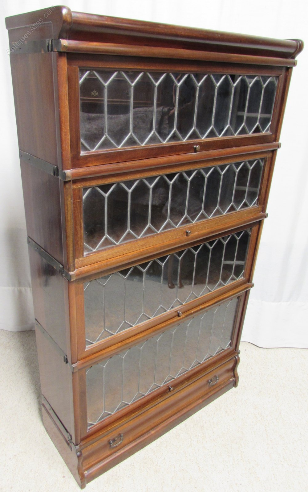 Mahogany Globe Wernicke Bookcase Antique Stacking Bookcases Alt5 Alt6
