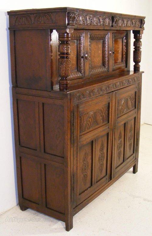 Antique Court Cupboards ... - Charles I Oak Court Cupboard. Circa 1640. - Antiques Atlas