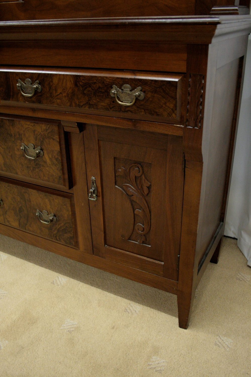Edwardian Gany Mirror Backed Sideboard Antique Sideboards Cupboard Drawers