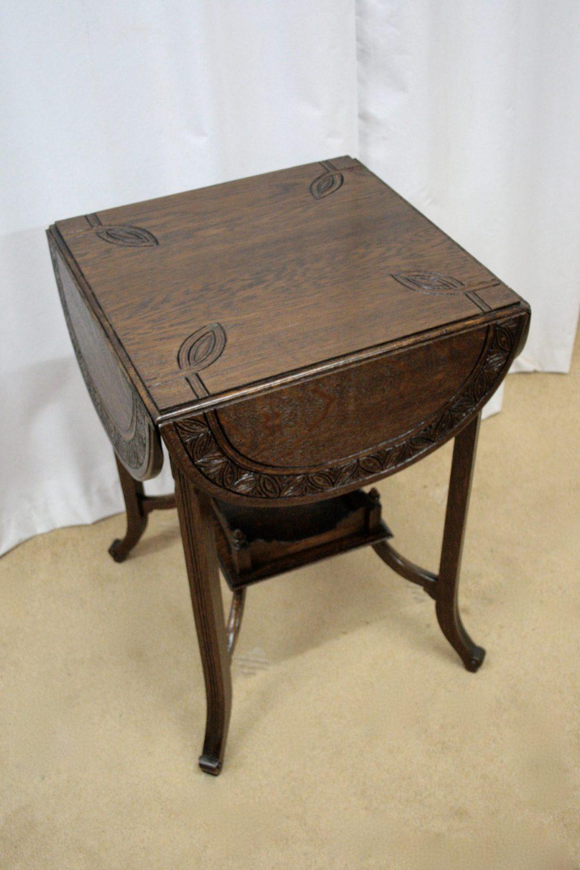 Antique Drop Leaf Table >> Edwardian Oak Occasional Table - Antiques Atlas