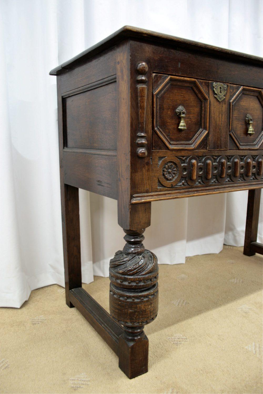 Oak Side Table: Jacobean Oak Side Table