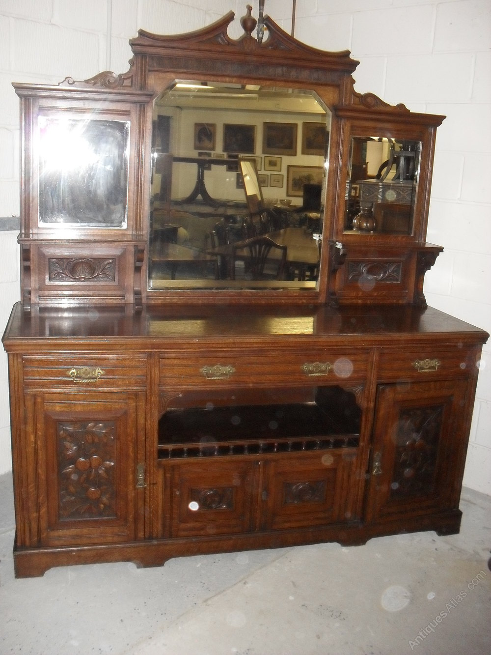 Late Victorian Oak Mirror Back Sideboard Antiques Atlas