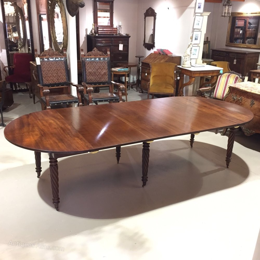 12 Seater William Iv Extending Dining Table Antiques Atlas