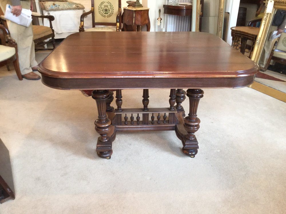 Antique french extending dining table seater antiques