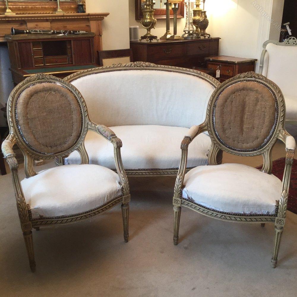 Top Antique French Painted Salon Suite - Antiques Atlas NX56