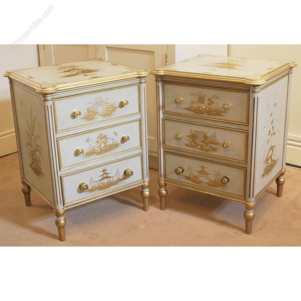 Antiques Atlas Chinese Style Paint Amp Gilt Bedside Tables