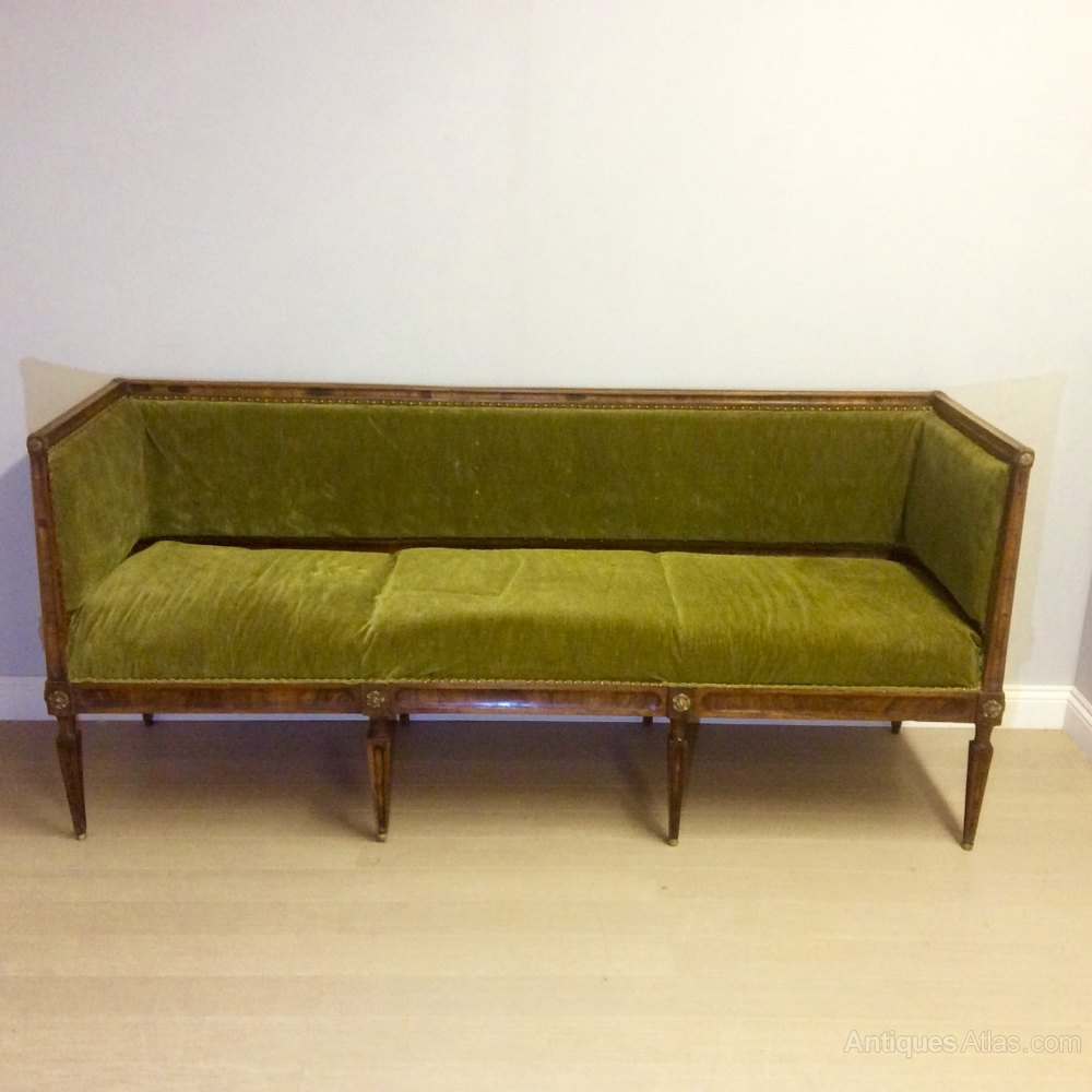 French empire style three seat sofa antiques atlas for Antikes sofa gebraucht