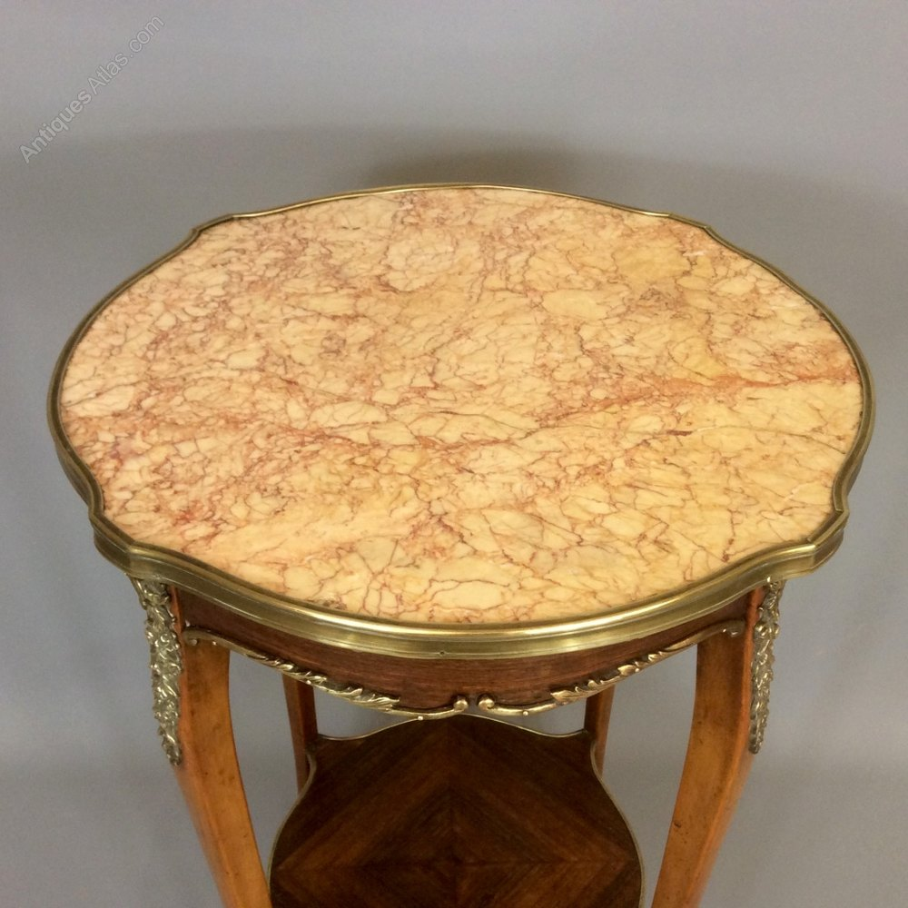 Simple French Marble Top Side Table Antique Side Tables