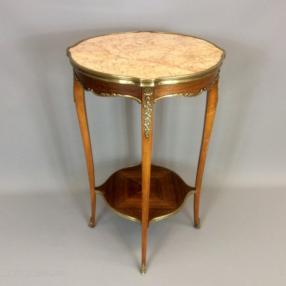 Awesome French Marble Top Side Table Antique Side Tables wine table side table occasional table