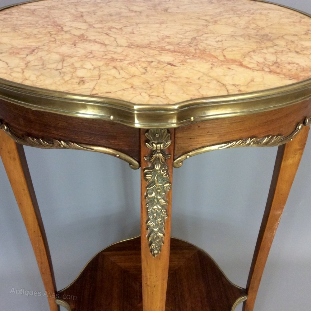 Amazing French Marble Top Side Table Antique Side Tables wine table side table occasional table alt