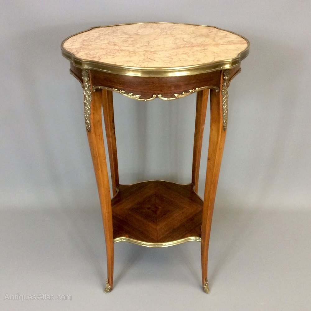Trend French Marble Top Side Table