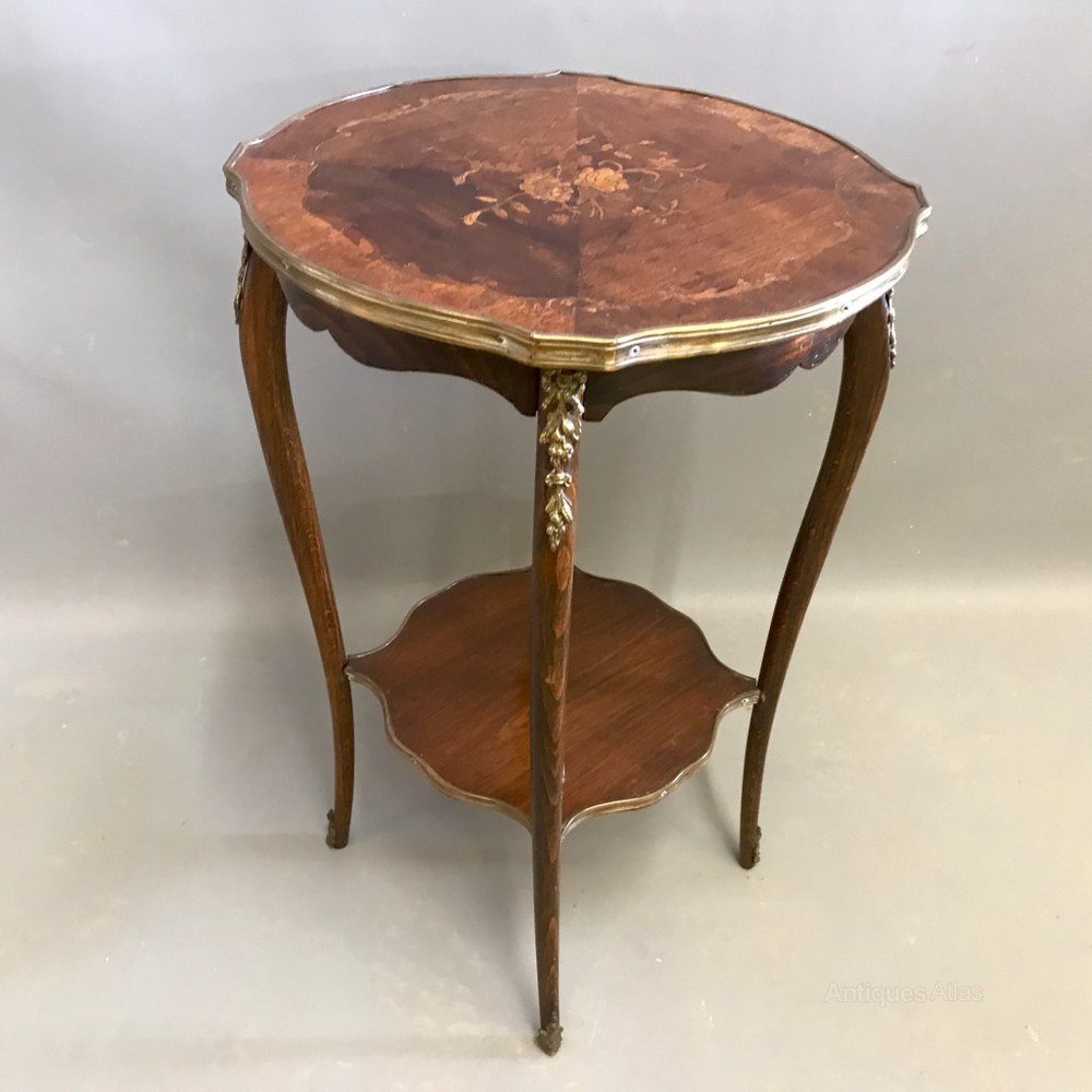 French marquetry side table antiques atlas