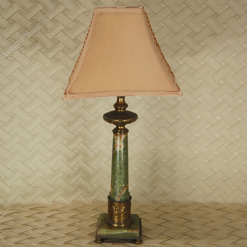 Antiques atlas green onyx table lamps circa 1920 green onyx table lamps mozeypictures Images