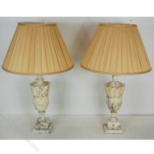Italian Marble Table Lamps ...