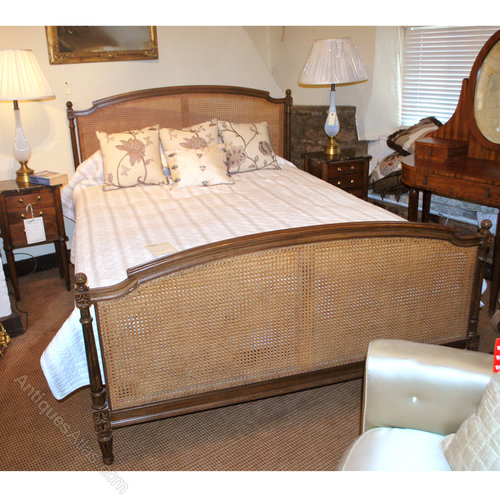 Kingsize French Cane Bed Antiques Atlas