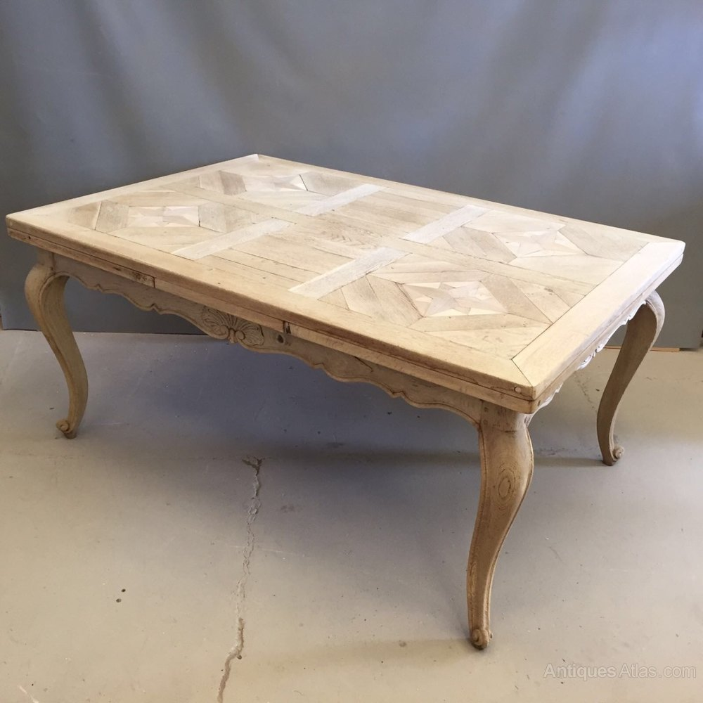 Beau Large French Bleached Oak Extending Table ...