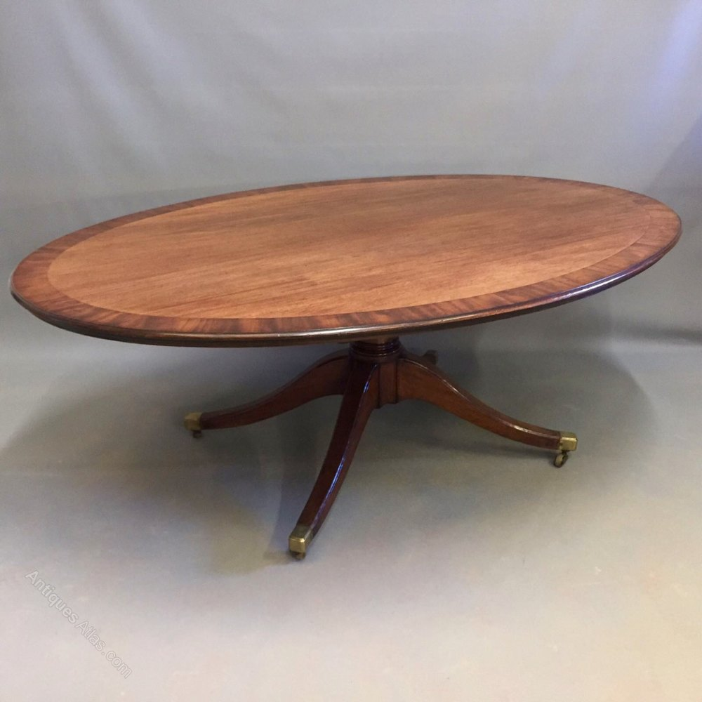 8 Seater Oval Dining Table ... mahogany oval dining table of a great size, seating 8...circa 1820