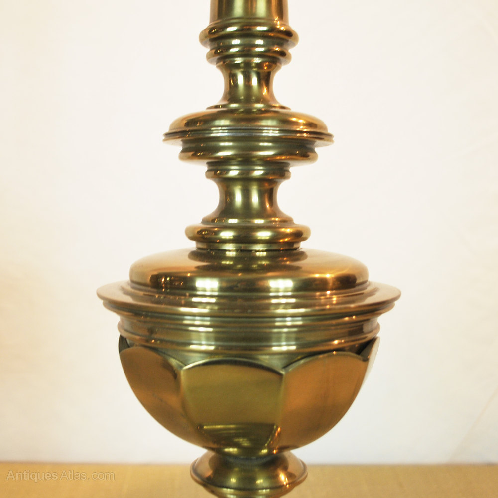Antiques atlas large brass table lamps by stiffel large brass table lamps by stiffel antique lighting table lamps aloadofball Images