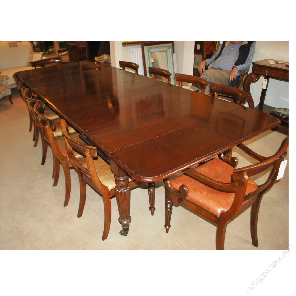 Large Extending Dining Table 14 Seater 13 6 Antiques Atlas