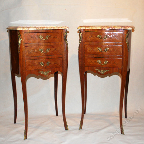 Pair Of Antique French Bedside Cabinets S