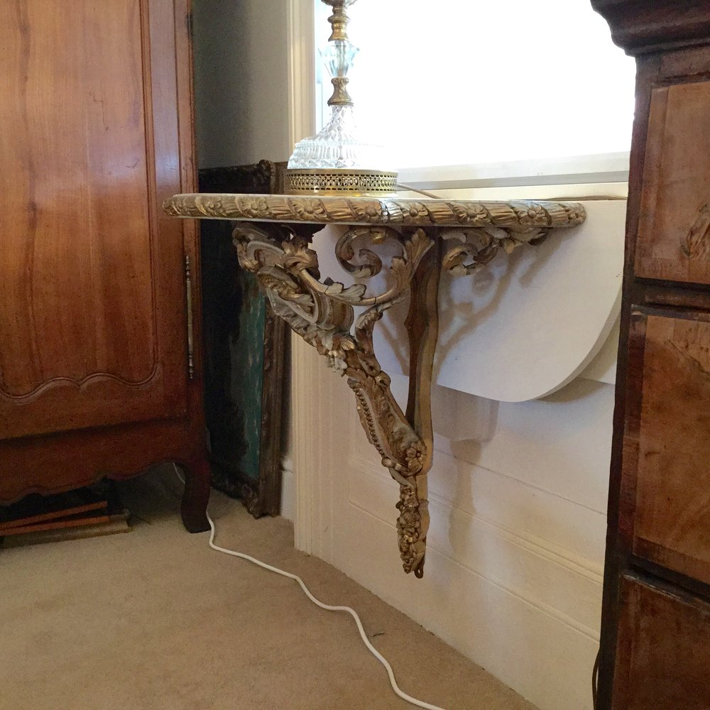 Pair Of Large Wall Mounted Console Tables Antiques Atlas