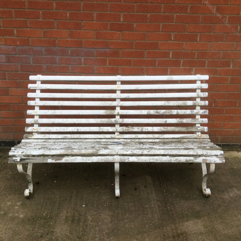Pair Of Vintage Garden Benches Antique Garden Benches ...