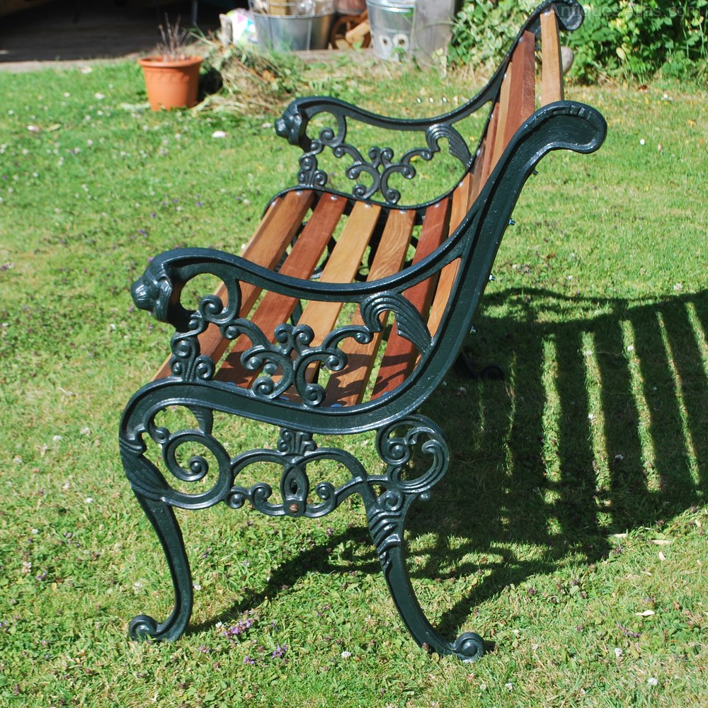 Small Cast Iron Garden Bench Vintage Furniture