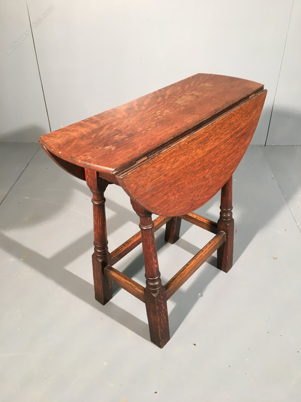 Small Oak Drop Leaf Side Table 19th Century Antiques Atlas