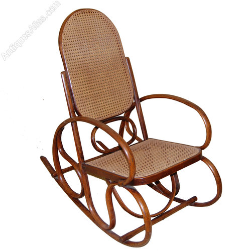 Thonet Style Bentwood Rocking Chair Antique ... - Thonet Style Bentwood Rocking Chair - Antiques Atlas
