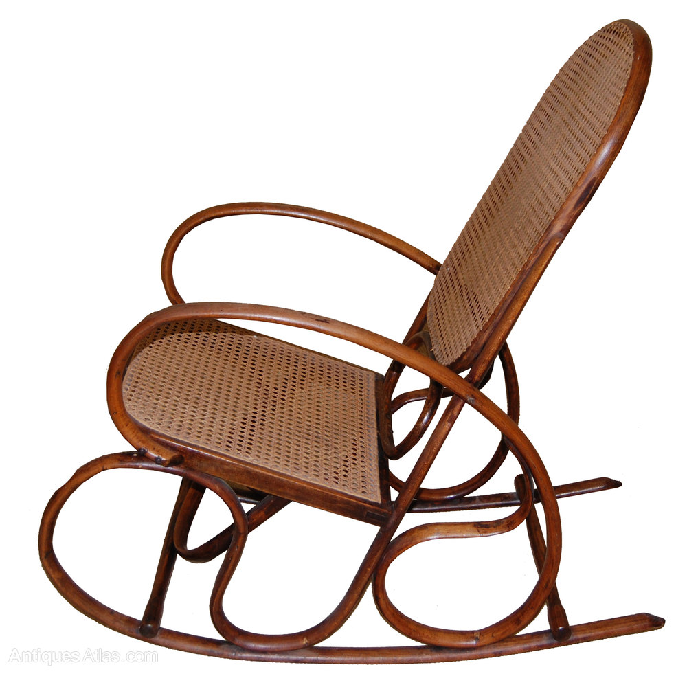 Thonet Style Bentwood Rocking Chair Antique Chairs