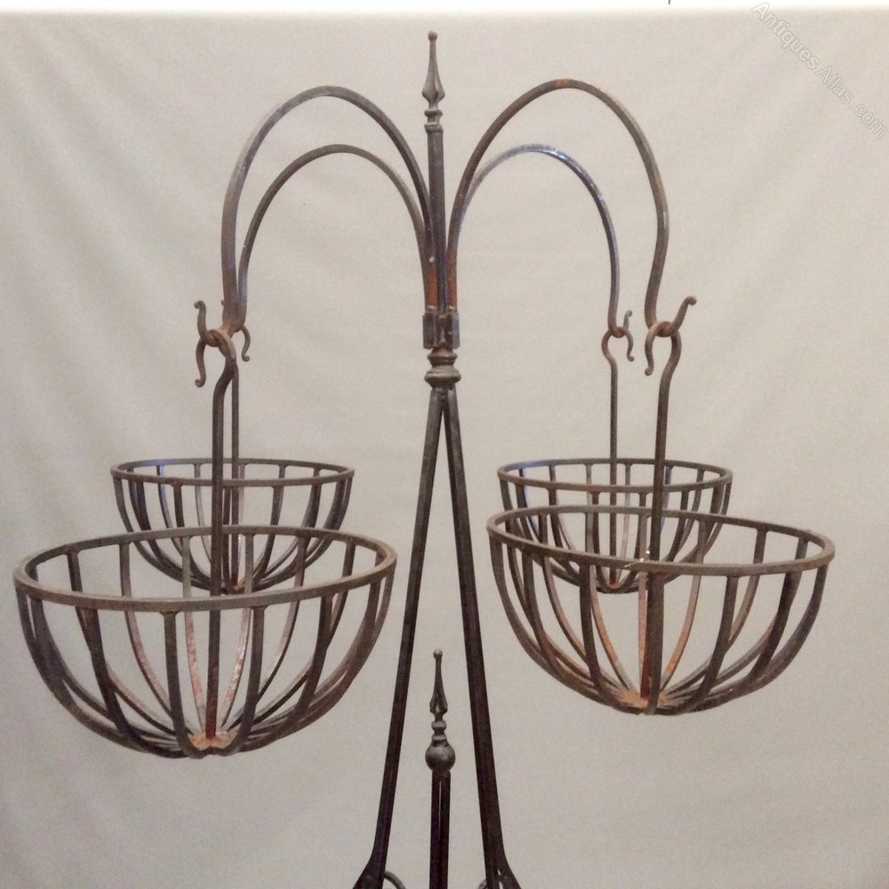Antiques Atlas - Wrought Iron 7' High Hanging Plant Stand on Hanging Plant Stand  id=37872