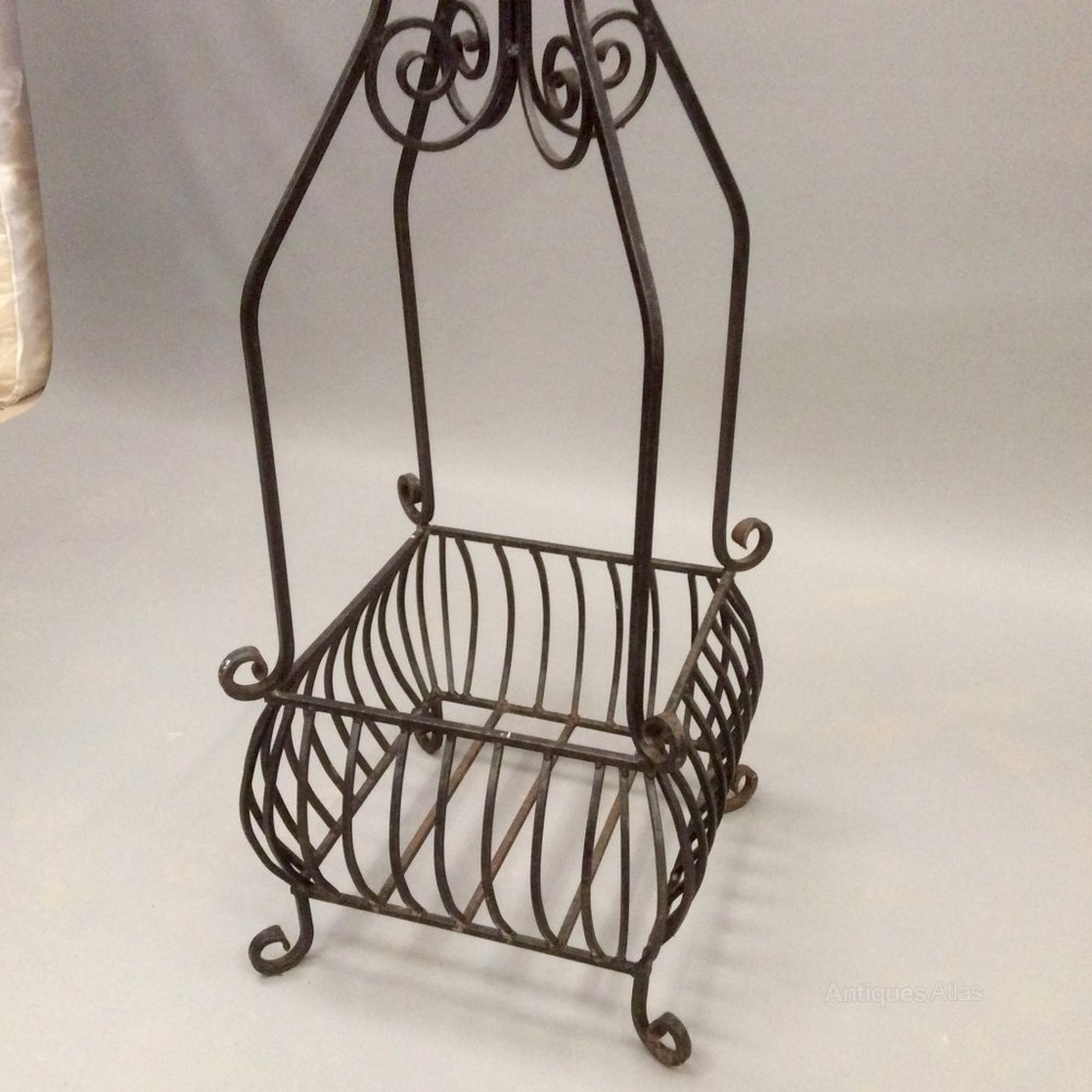 Antiques Atlas - Wrought Iron 7' High Hanging Plant Stand on Plant Stand Hanging  id=29220