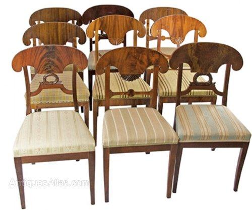 Antique Biedermeier Dining Chairs