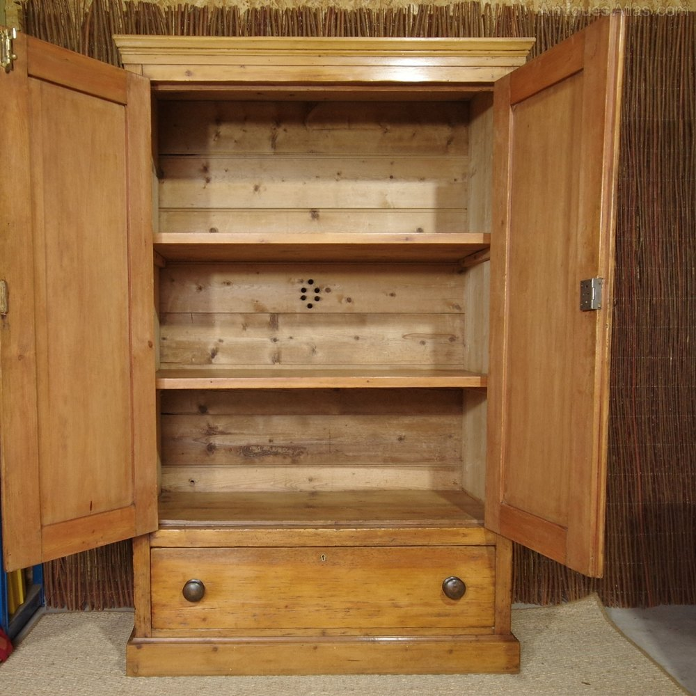 19th Century Pine Linen Cupboard Antiques Atlas