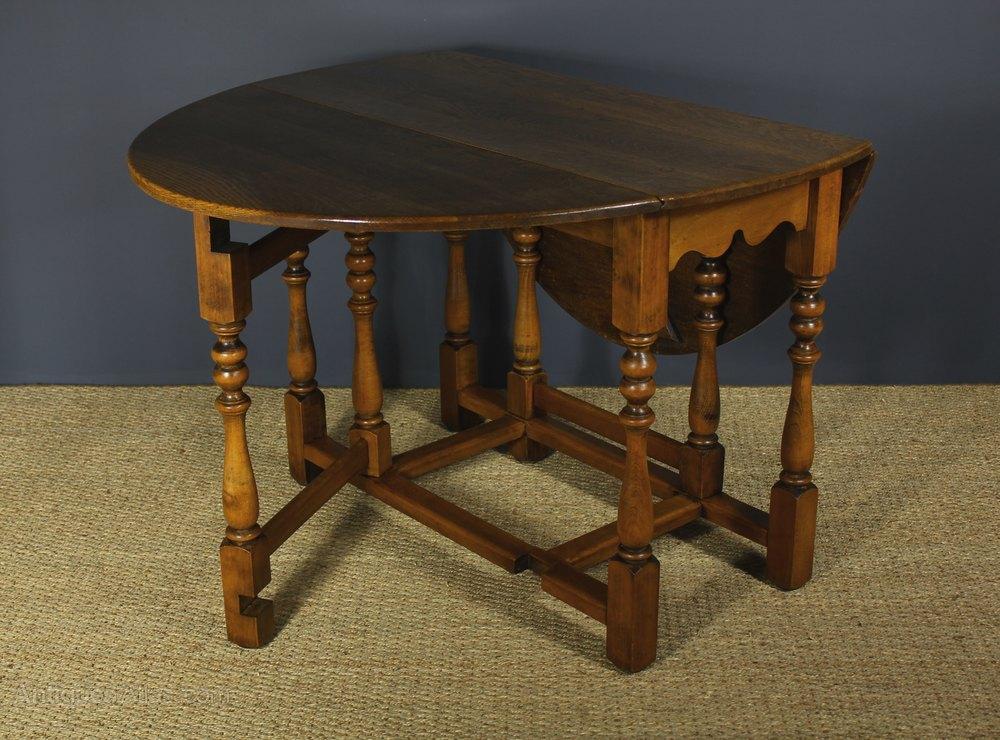 Oak Oval Drop Leaf Gate Leg Table Antiques Atlas