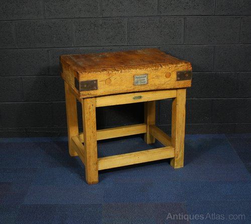 Awesome Antiques Atlas Vintage Rushbrookes Albion Butchers Block Theyellowbook Wood Chair Design Ideas Theyellowbookinfo