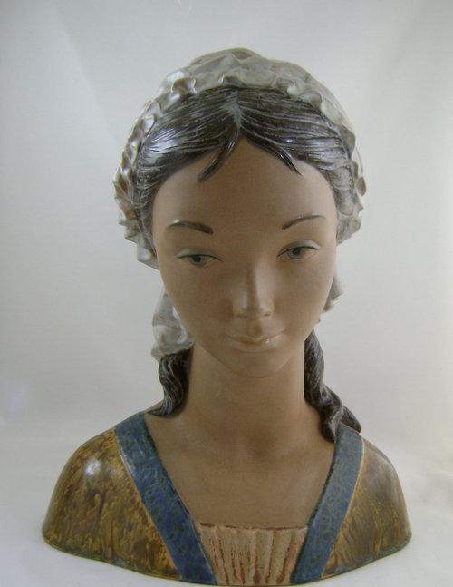 Antiques Atlas - Large Lladro Bust Little Girl 2024-2849