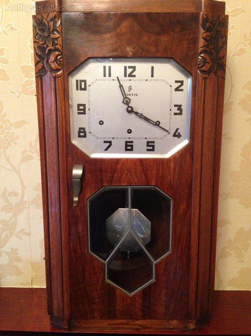 Antiques Atlas French Vedette Art Deco Clock