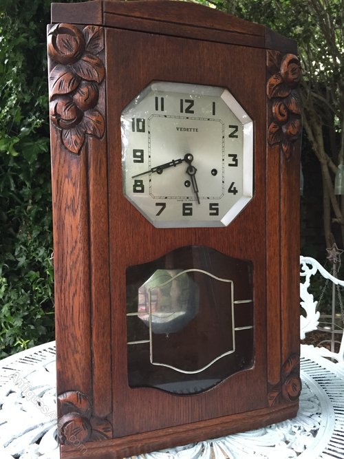 Antiques Atlas French Vedette Art Deco Wallclock