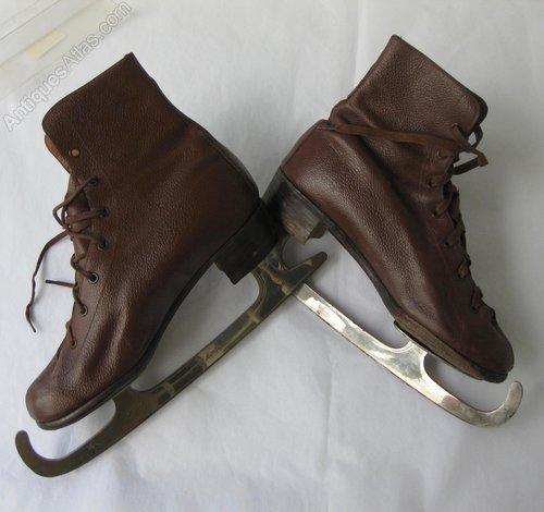 8dd5224274 Antiques Atlas - Antique Victorian Ice Skates In Brown Leather