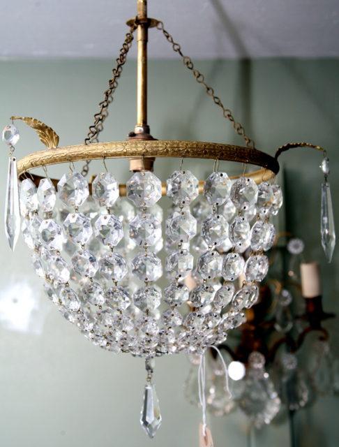 Antiques atlas large 1940s bag chandelier large 1940s bag chandelier aloadofball Image collections