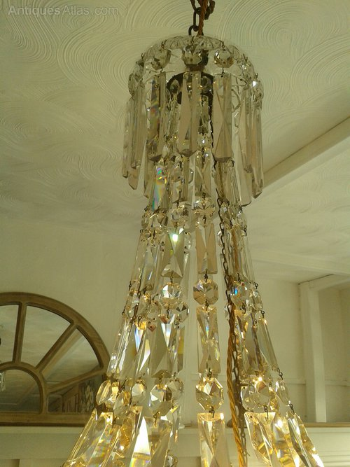 Victorian Tent and Waterfall Chandelier Tent and Bag Chandeliers ceiling light cut glass chandelier & Antiques Atlas - Victorian Tent And Waterfall Chandelier