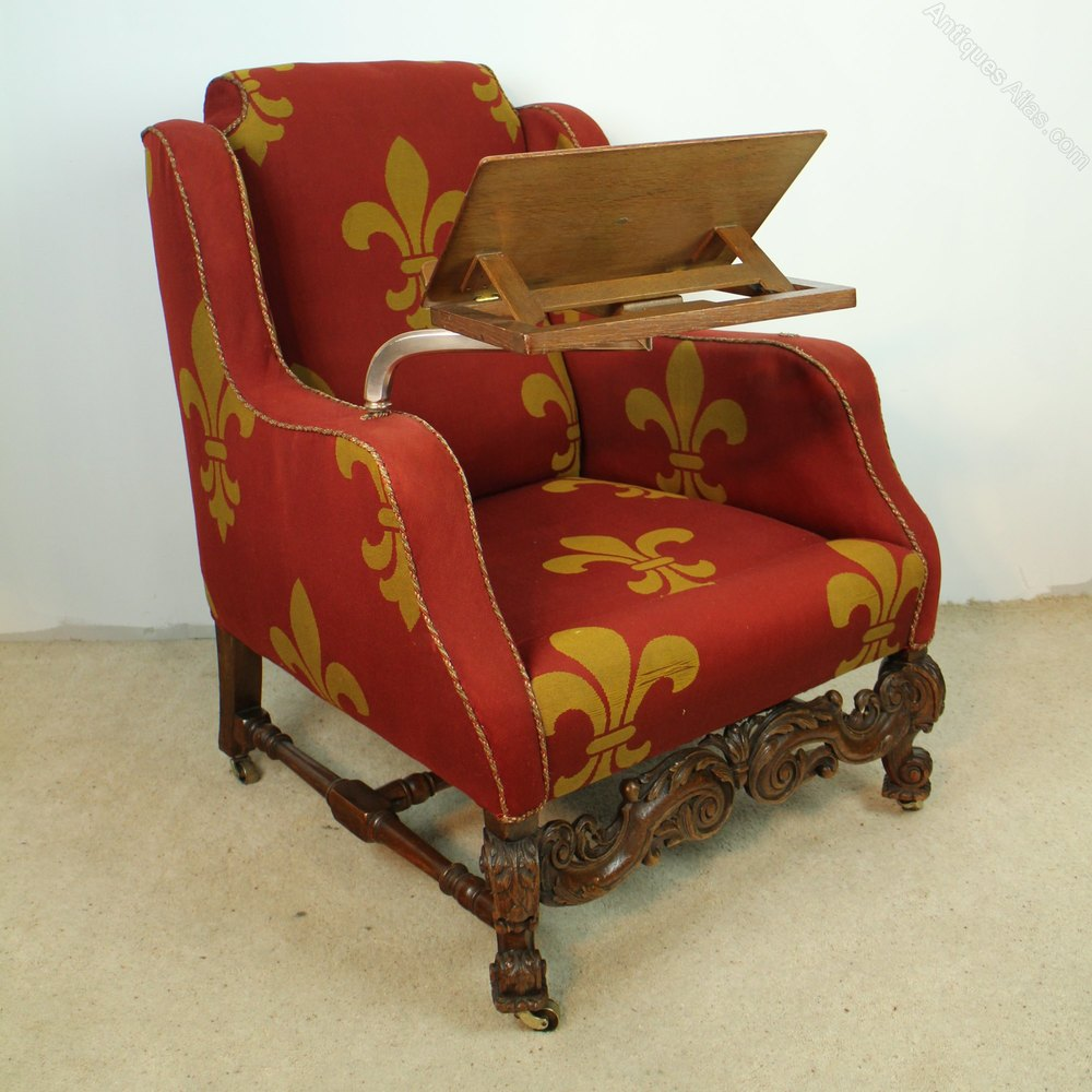 ... Chair Antique Reading Chairs ... - A 19th Century Carved Oak Wingback Reading Chair - Antiques Atlas