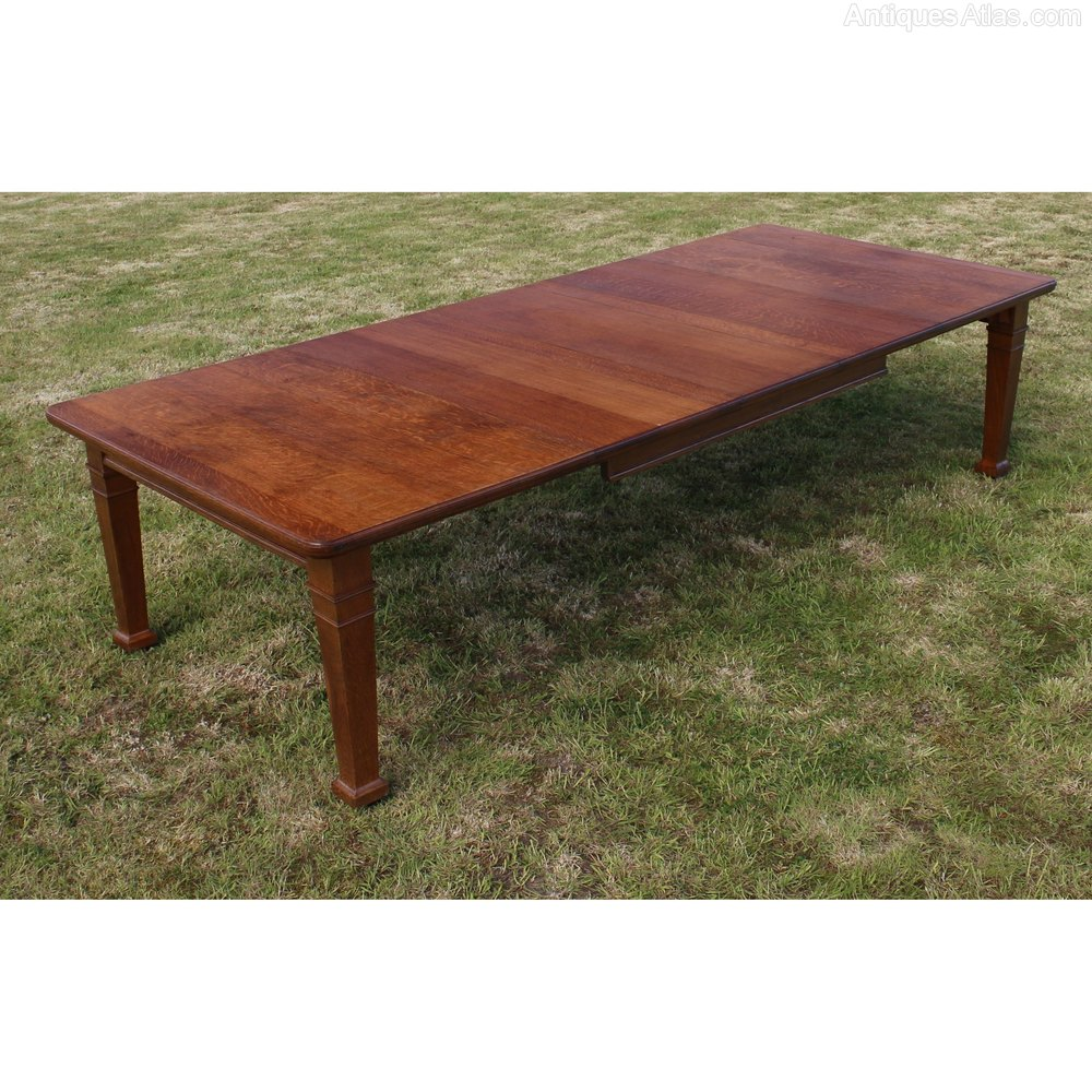arts and crafts dining table. Arts \u0026 Crafts Oak Extending Dining Table, 10ft/seats 12 And Table