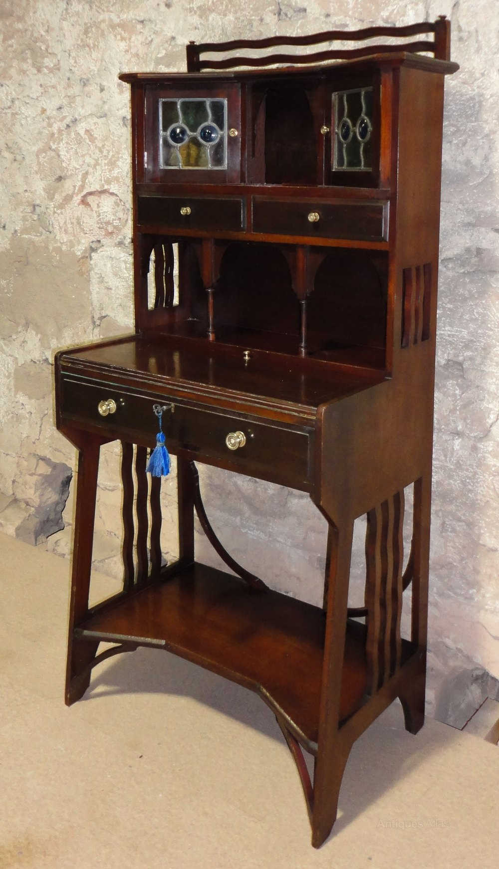 ... Antique Ladies Writing Desks ... - Liberty Arts & Crafts Mahogany Writing Desk - Antiques Atlas