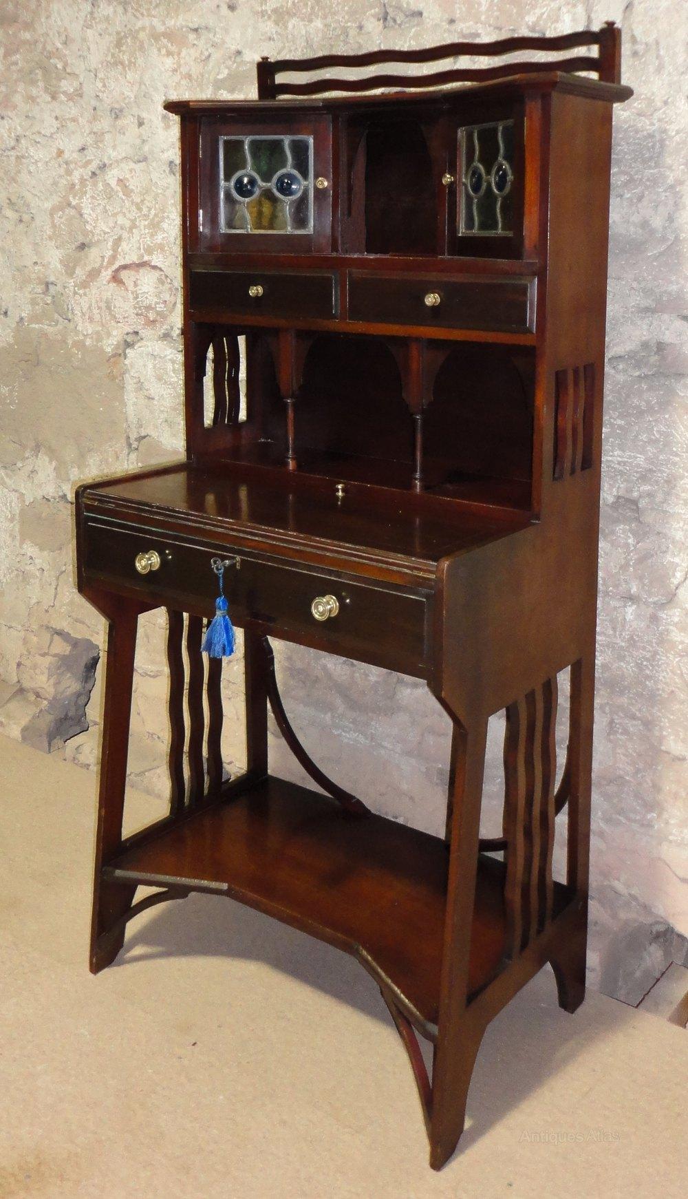 Arts crafts desk - Antique Arts And Crafts Desk Arts And Crafts Writing Desk Liberty Arts Crafts Mahogany Writing