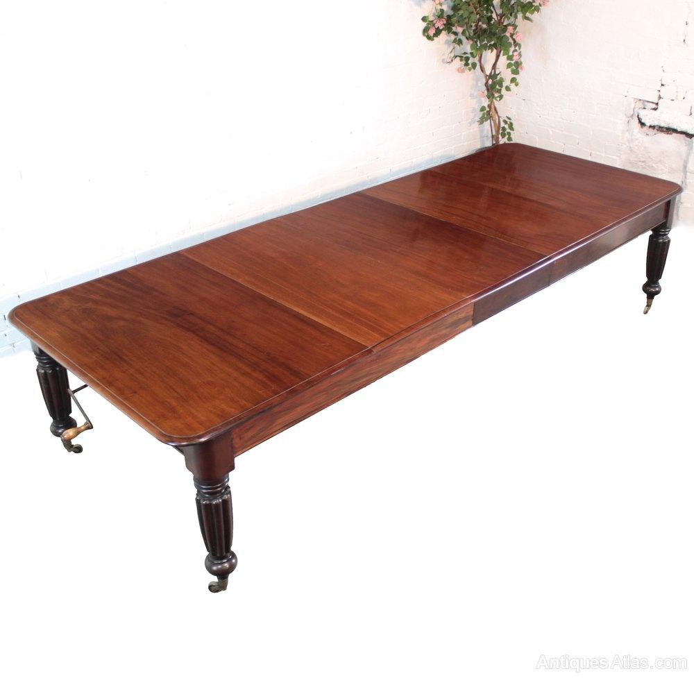 Regency Mahogany Extending Dining Table 10ft7