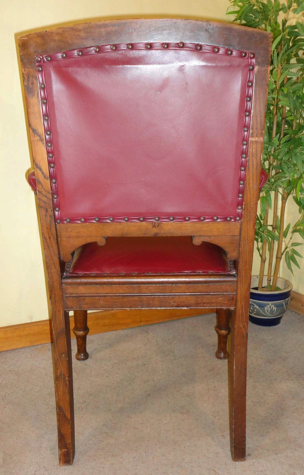 Set Of 26 Victorian Oak And Hide Leather Chairs Antiques