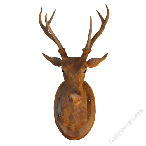 Antiques Atlas Super Victorian Carved Deer Stags Head