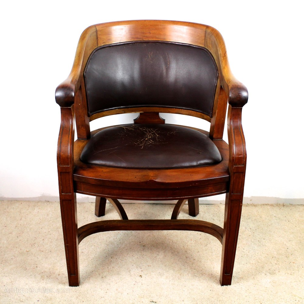 Victorian Walnut Bow Back Wide Desk Arm Chair Antiques Atlas